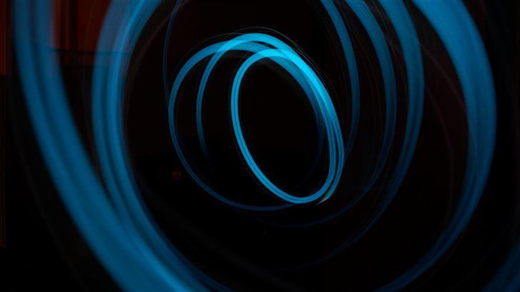 abstract art blue dark lights lines 5k Mac Wallpaper