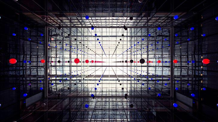 abstract world collide 5k Mac Wallpaper