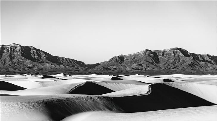 monochrome landscape 5k Mac Wallpaper
