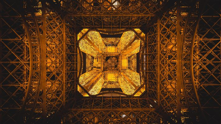 eiffel tower paris france abstract 5k Mac Wallpaper