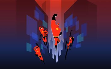 the incredibles minimal art 5k iMac wallpaper