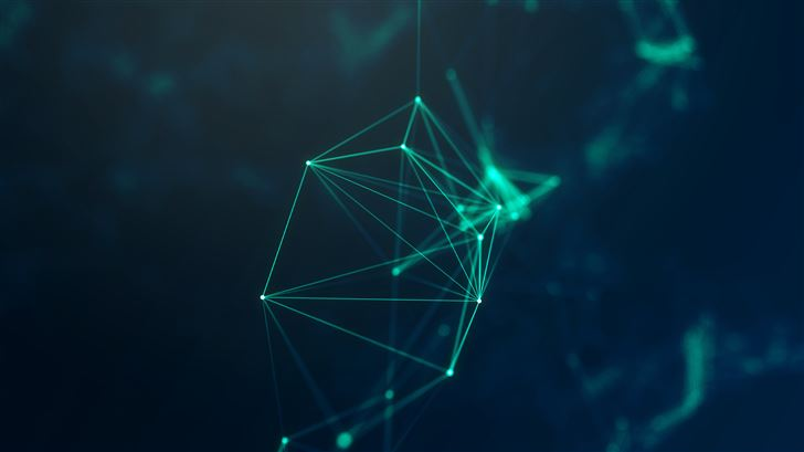 geometry cyberspace digital lines 5k Mac Wallpaper