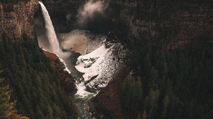 rocky mountains in autumn 5k Mac Wallpaper