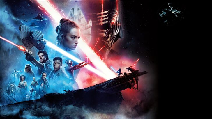 star wars the rise of skywalker 12k Mac Wallpaper