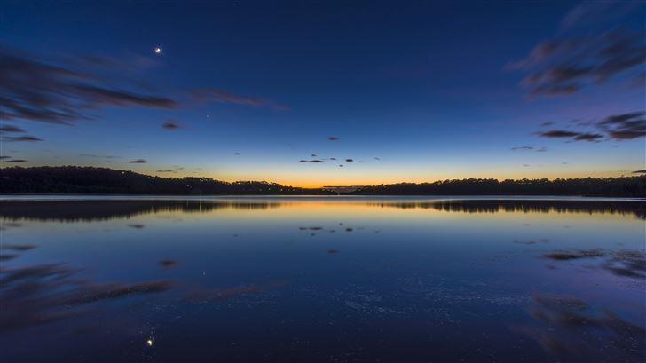 australia lake silent morning 4k Mac Wallpaper