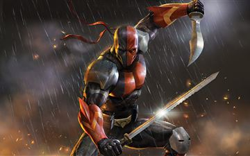 deathstroke knights and dragons 5k MacBook Pro wallpaper
