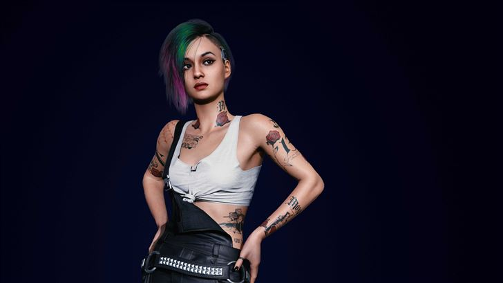 cyberpunk 2077 judy 5k Mac Wallpaper