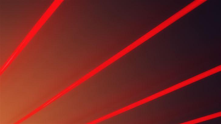 red light beams abstract 5k Mac Wallpaper