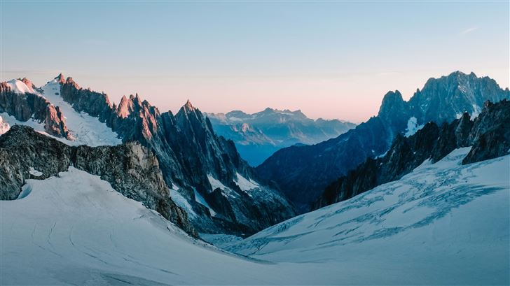 mountains covered in snow 4k 5k Mac Wallpaper