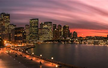 panoramic photography of buildings All Mac wallpaper