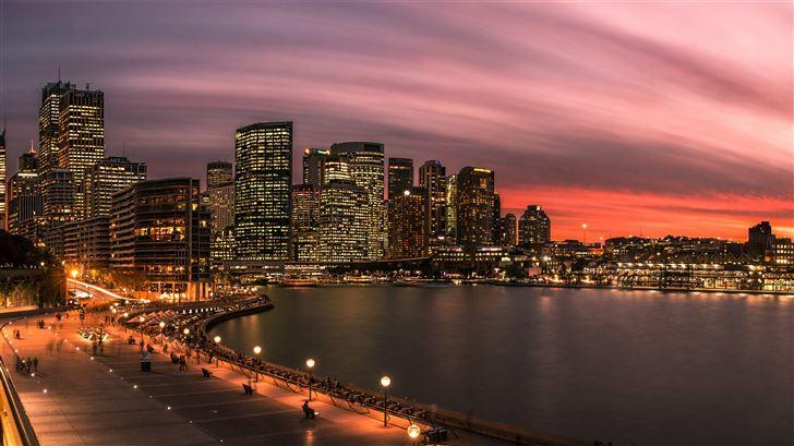 panoramic photography of buildings Mac Wallpaper