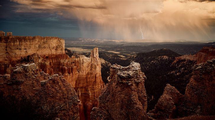 rocks mountains landscape 5k Mac Wallpaper