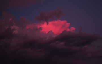 red clouds sunset 5k MacBook Pro wallpaper