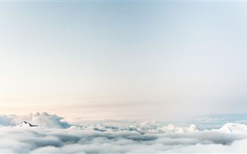 sky clouds 5k MacBook Air wallpaper