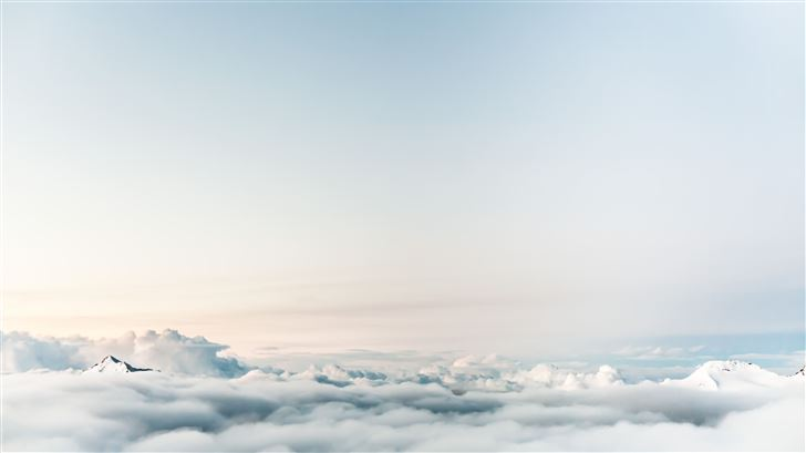 sky clouds 5k Mac Wallpaper
