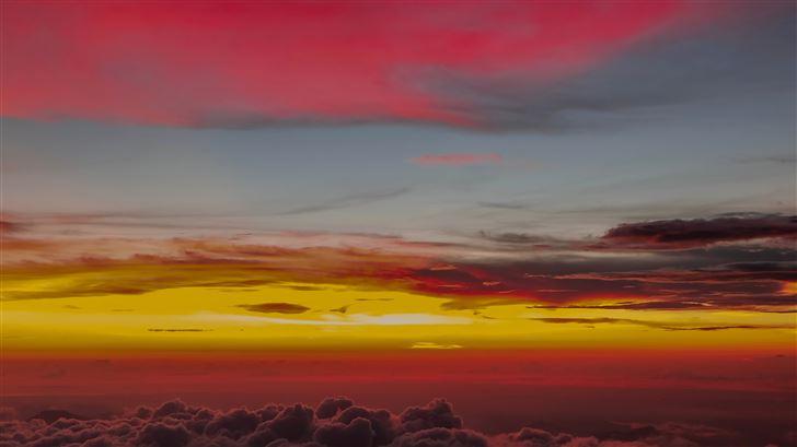 clouds silent nature 5k Mac Wallpaper
