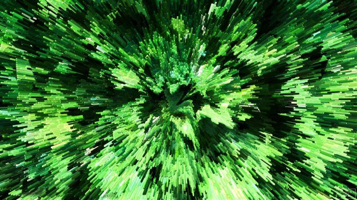 abstract green pipes 4k Mac Wallpaper