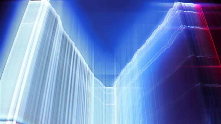 vector abstracts fractal glow 4k Mac Wallpaper