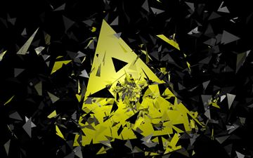 triangle broken glass abstract 5k MacBook Air wallpaper