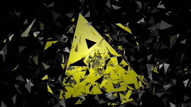 triangle broken glass abstract 5k Mac Wallpaper