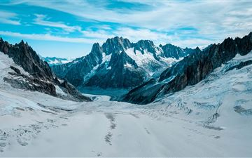 road winter mountains 5k MacBook Air wallpaper