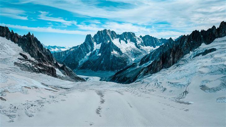 road winter mountains 5k Mac Wallpaper