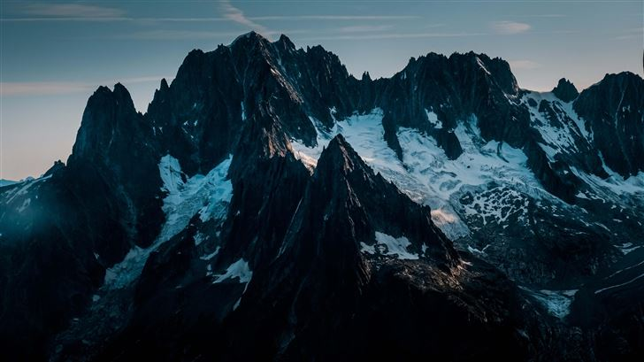 snow covered mountains 5k Mac Wallpaper