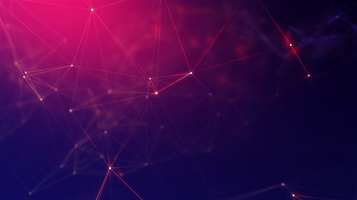 geometry abstract cyberspace 5k Mac Wallpaper