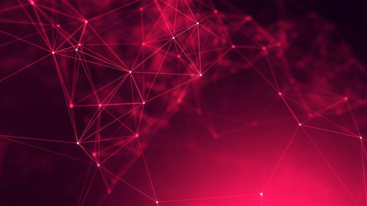 abstract cyberspace geometry 5k Mac Wallpaper