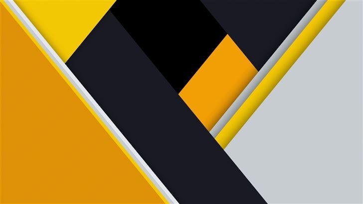 yellow material design abstract 8k Mac Wallpaper