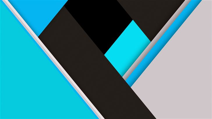 blue green material design abstract 8k Mac Wallpaper