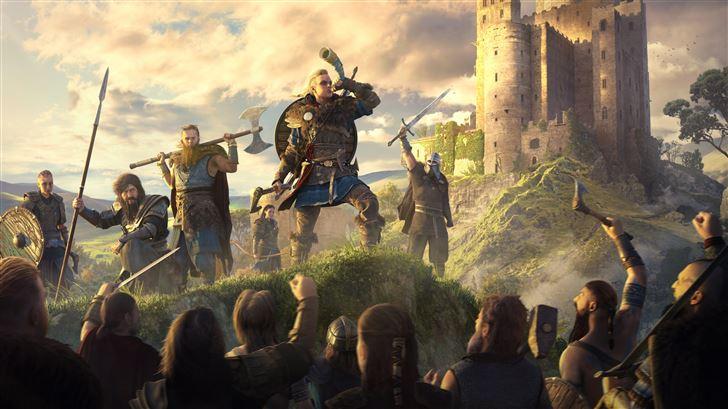 assassins creed valhalla 12k game Mac Wallpaper