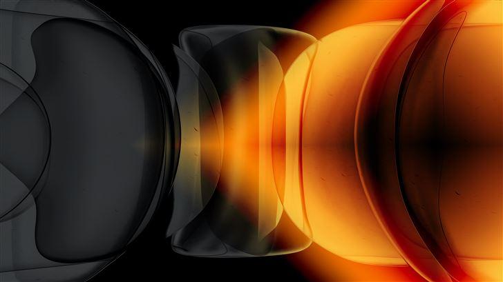 yellow lights bubbles 4k Mac Wallpaper