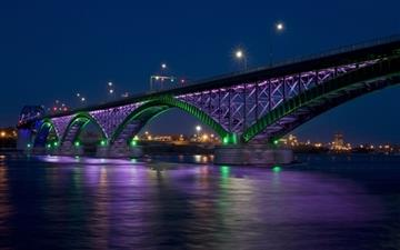 Peace bridge at night Mac wallpaper