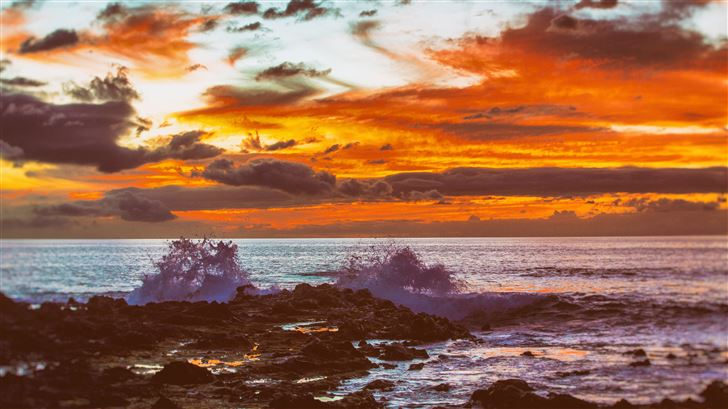 hawaii sunset 5k Mac Wallpaper