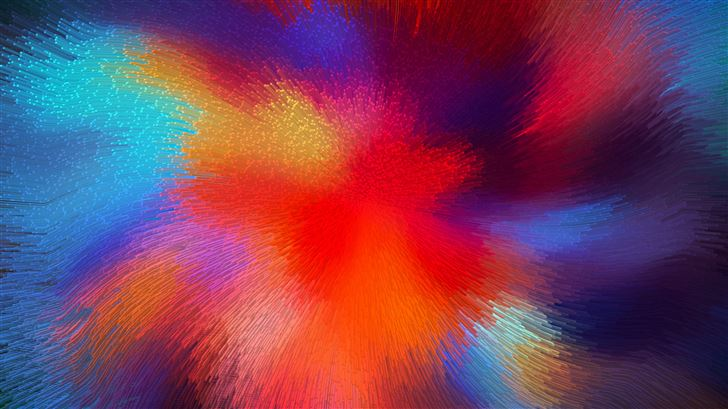 circle colorful wave abstract 5k Mac Wallpaper