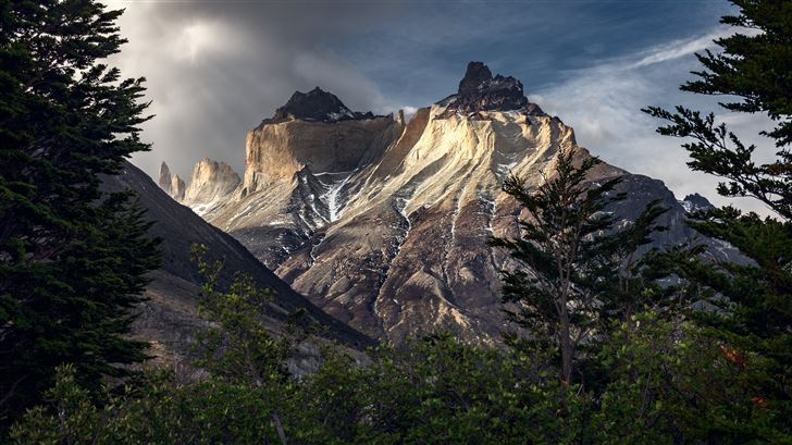 mountains chile patagonia torres del paine 5k Mac Wallpaper