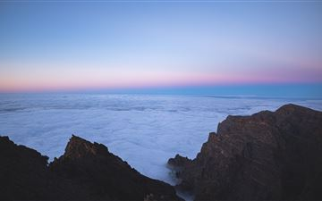 sea of clouds top view 5k iMac wallpaper