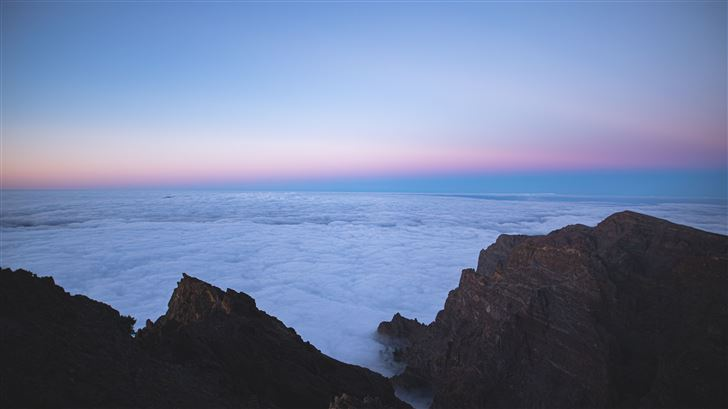 sea of clouds top view 5k Mac Wallpaper