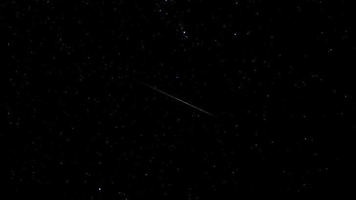 dark starry sky stars 4k Mac Wallpaper
