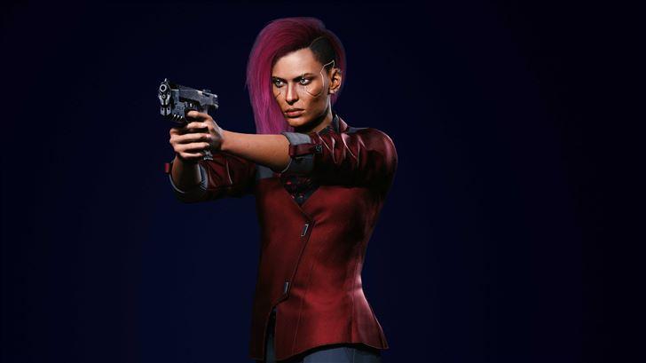 cyberpunk 2077 v female corpo action Mac Wallpaper