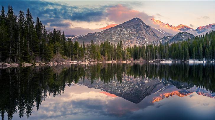 bear lake reflection at rocky mountain national pa Mac Wallpaper