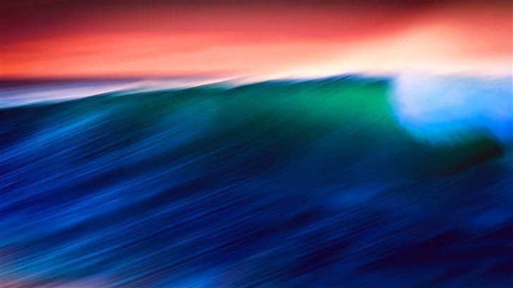 waves abstract 5k Mac Wallpaper
