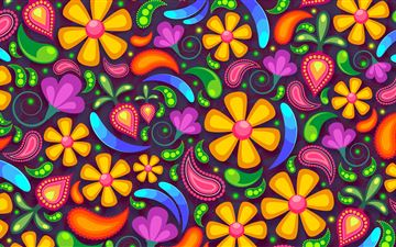 colorful texture flowers 5k iMac wallpaper