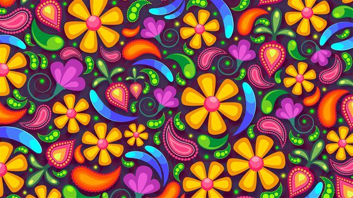 colorful texture flowers 5k Mac Wallpaper