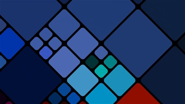 cubes abstract 8k Mac Wallpaper