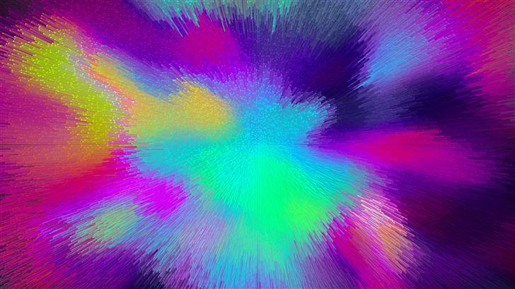 abstract colorful wave 5k Mac Wallpaper