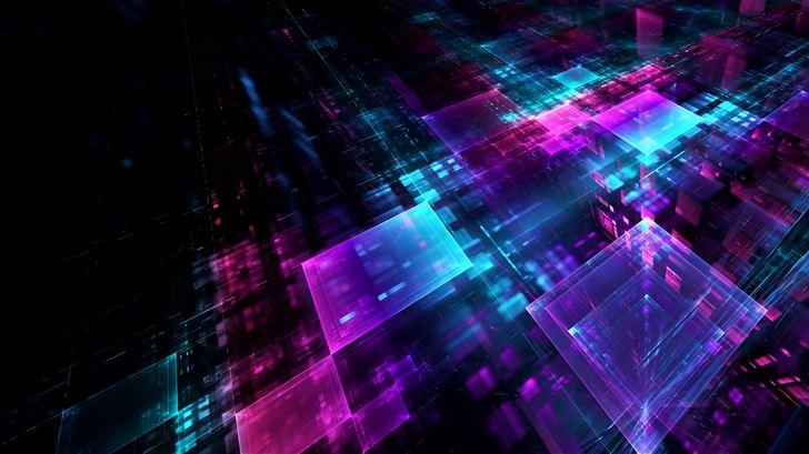 abstract cube digital art 5k Mac Wallpaper