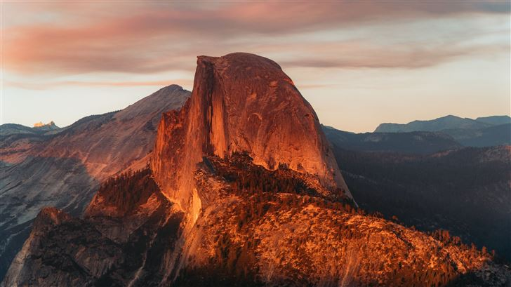 half dome granite dome in california Mac Wallpaper