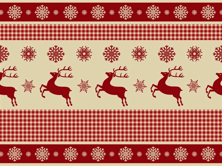 Reindeers and Snowflakes Pattern Mac Wallpaper